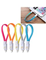 Callmate Set of 5 Charging Cable Flat Magnetic For iPhone 5 5S 5C 6 6 Plus - Assorted Color