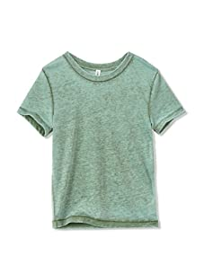 Colorfast Apparel Boy's Burnout Crewneck Tee (Olive)