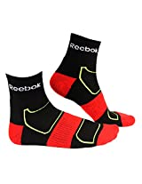 Reebok Socks 1328C00 Half Cushion High Ankle (White/Grey/Black With China Red)