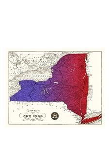 "New York Gradient Map, Purple/Red, 32"" x 40"""