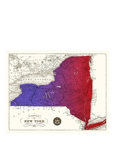 New York Gradient Map, Purple/Red, 32