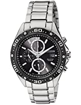 Citizen Eco-Drive Analog Black Dial Men's Watch - CA0030-61E