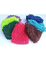 Gadgetbucket H1CK6 Multi Purpose Micro Fiber Washing Gloves (Set of 2) (Color may vary)