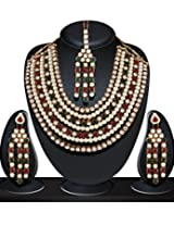 Niki Jewels Alloy Patwa Set for women (Multicolour) (010 209 AK9)