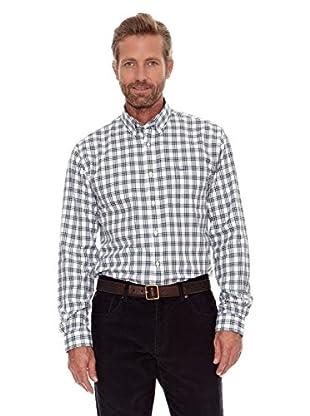 Cortefiel Camisa Blan (Verde Oscuro)