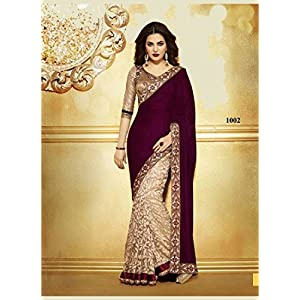 Bollywood Replica Madhuri Dixit Net Saree In Baby Pink Color