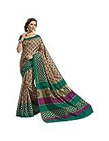 Ashika Printed Bollywood Designer Raw Silk Saree ,Sari (2433)