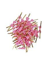Generic 50 Metallic Twist Ties Bowknot Cake Pop Sealing Bag Lollipop Pack Rose Red