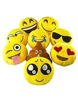 Pawliss Emoji Mini Stuffed Plush Toy Emoticon Throw Pillow Cushion 8 Pack