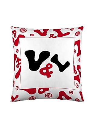 Victorio&Lucchino Federe Cuscino 60X60 Logo Colors (rosso)