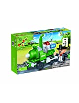 BanBao Steam Locomotive Building Set, 65-Piece