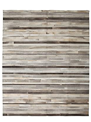 Solo Rugs Natural Cowhide Rug, Silver, 8' 1
