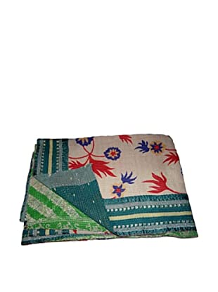 Vintage Hema Kantha Throw, Multi, 60