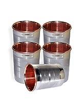 Dakshcraft ® Drinkware Accessories Handmade Copper Tumblers, Set of 5