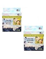 NuAngel All-Natural Cotton Washable Nursing Pads, 16 Count