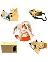 DMG Google Cardboard / VR Cardboard, DMG 3D Virtual Reality Cardboard with Headband Compatible with Android & Apple