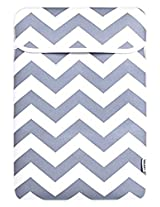 TopCase Chevron Series Gray Sleeve Bag Cover for All 15 15-inch Laptop Notebook / Macbook Pro with or without Retina Display - with TopCase Chevron Mouse Pad