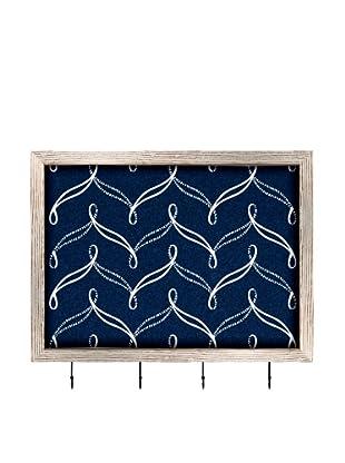 PTM Images Nautical Cork Key/Jewelry Organizer with Cork Backing, Dark Nautical Blue
