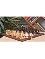 Chessbazaar Combo Of Admiral Series Chess Pieces In In Rose / Box Wood & Wooden Montgoy Palisander Maple Deluxe Board
