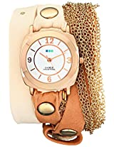 La Mer Collections Women's LMMULTICW2000 Rose Gold Watch with Leather/Chain Wrap Band