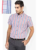 Red Checks Slim Fit Formal Shirt Andrew Hill