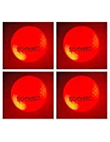 NEW 4 Red Nighthawk Glow In Dark LED Light Up Golf Balls Official Size Constant Lit