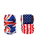 Combo Of Noise 13 in 1 U. K. Flag And U.S. Flag Headwrap