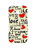 Casotec Love Hearts Design Hard Back Case Cover for Motorola Moto E 2nd Generation