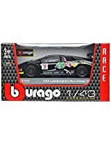 Bburago Lamborghini Murcielago Gt Bburago Scale-1:43 Die Cast Toy Car (Black)