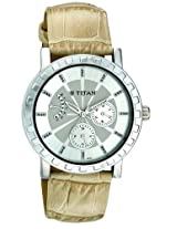 Titan Purple Anaolg Silver Dial Women's Watch - NC9741SL01