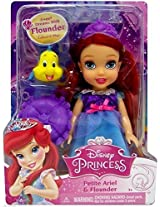"Disney Princess My First Princess Petite Ariel & Flounder Doll 6"" Nip"