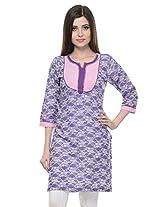 MYRA Pink Cotton Kurti For Women MYRA061