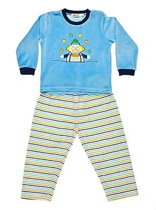Bebesvelt Pijama Infantil Velour Bordado (Azul)