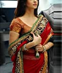 Aishwarya Rai red designer saree In Robot