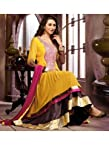 Karishma Jasmine Yellow Semi Stitched Anarkali Suit