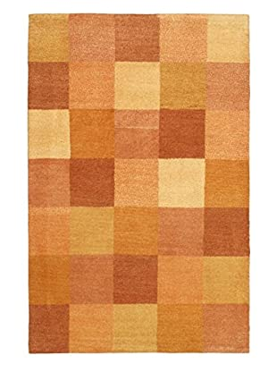 Hand-Knotted Indian Gabbeh Rug, Light Gold, 3' 11