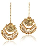 Shining Diva Metal Dangle & Drop Earring For Women (Gold)