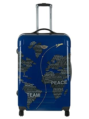 American Revival Trolley Map World 60x41x26 cm (Blau)