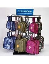 East Side Collection Rain Jacket Spinner Display Rack, Black