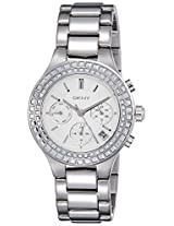 DKNY End of Season Chambers Chronograph Silver Dial Women's Watch - NY2258I