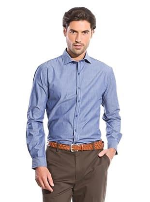 Cortefiel Camisa Rayas (Azul Oscuro)