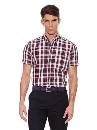 Hackett Camisa Estampada (Morado / Rojo)