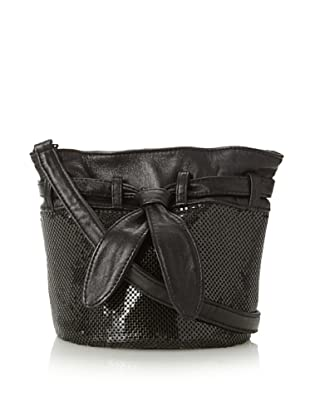 Whiting & Davis Women's Small Bucket Cross-Body, Black