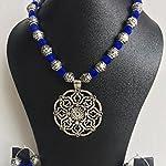 Blue n Silver Neck Set n Earrings
