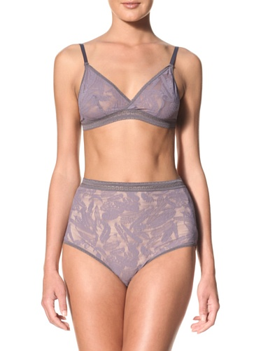 Between The Sheets Women's Birds of Play Hi-Waist Knicker (Grey)