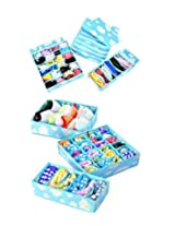 MagnusDeal® Set of 3 Blue Cloud Panty Underwear Bras Drawer Closet Organizer Storage Box Case