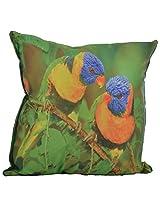 Twisha Love Birds Printed Pillow 12 X 12 X 4 Inch