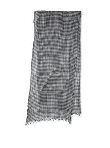 Amicale Men's Gingham Scarf (Olive/Sky)