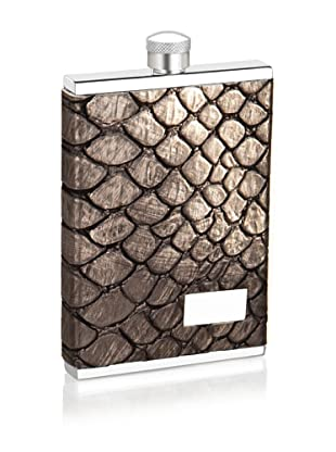 Wilouby 3-Oz. Slimline Collection Stainless Steel Flask, Croco Finish