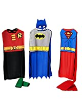 Rubies DC Comics Boys Action Trio Superhero Costume Set